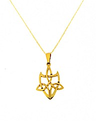 9ct Yellow Gold Celtic Shield Pendant