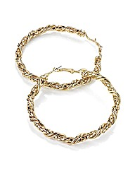 Accessories Gold Coloured Hoop Earrings