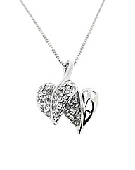 Crystal Double Heart Pendant