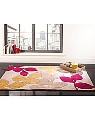 Infinite Seasons Stencil Leaves Rug
