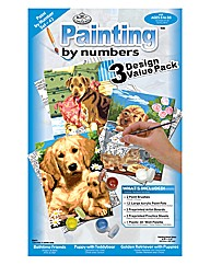 Paint by numbers Puppies
