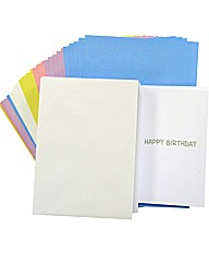 50 Coloured Cards, Envelopes and Inserts