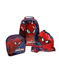Ultimate Spiderman 4 Piece Luggage Set