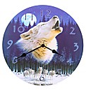 Moonlight Howling Wolf Picture Clock