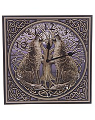 Wolves Tree of Life Picture Clock