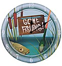 Gone Fishing Picture Clock