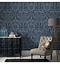 Graham & Brown Desire Petrol Wallpaper