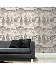 Graham & Brown Mirage Grey Wallpaper
