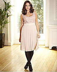 Rose Detail Pleated Dress