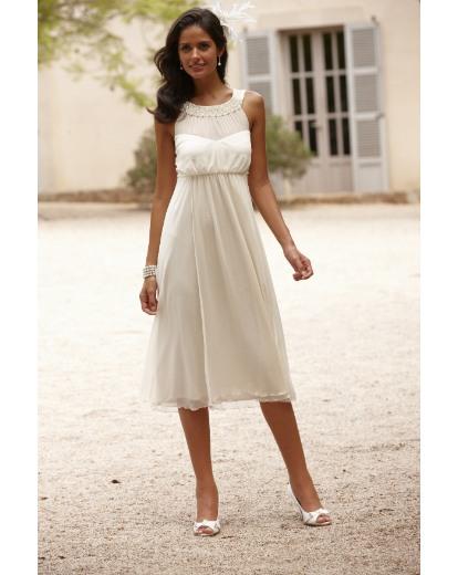 Joanna Hope Pearl Trim Dress   Marisota