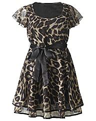 AX Paris Animal Print Frill Sleeve Dress