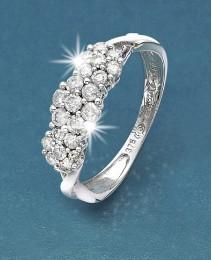 9 Carat Gold 1/2ct Diamond Cluster Ring
