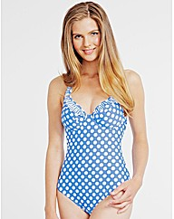 Pin Up Underwired Halter Swimsuit