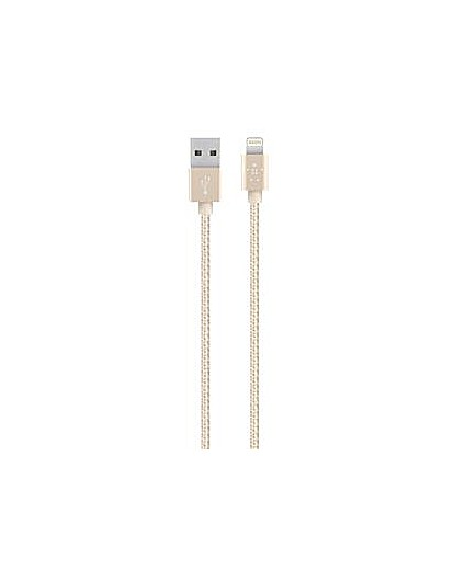Image of Belkin Lightning Cable for Apple Gold